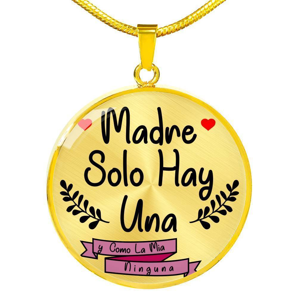 Mother/'s Day gifts for her birthday Easter graduation personalized gift Round pendant necklace stainless steel custom gift