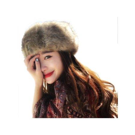 Nicesee Women Girl Winter Warm Faux Fur Headband Loop - Fur Headband