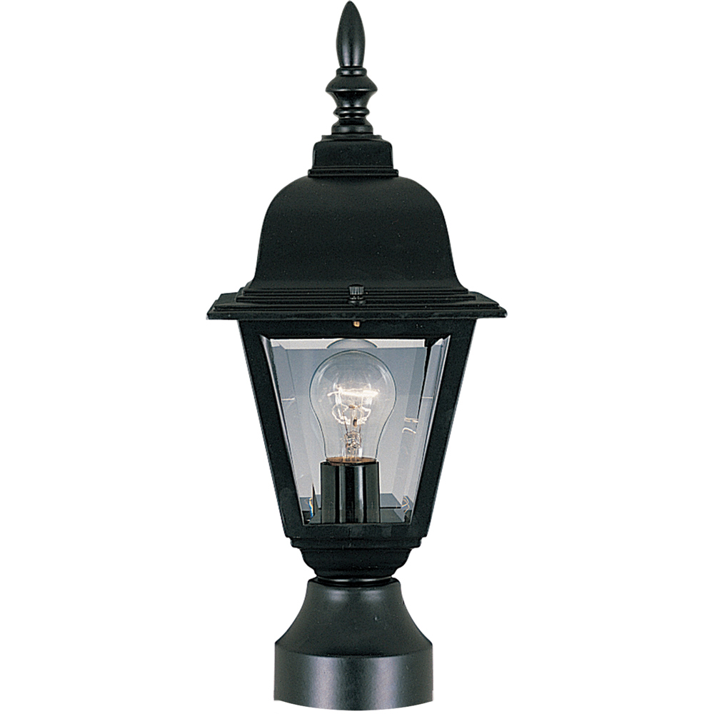 Maxim Lighting 3006CLBK Post Mount Light, Black