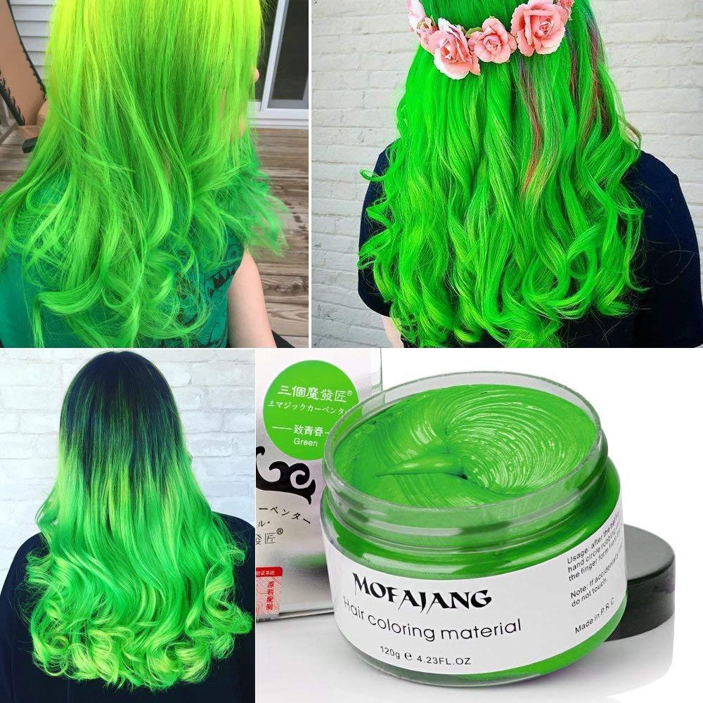 Mofajang Hair Wax Temporary Hair Coloring Styling Cream Mud Dye - Gray