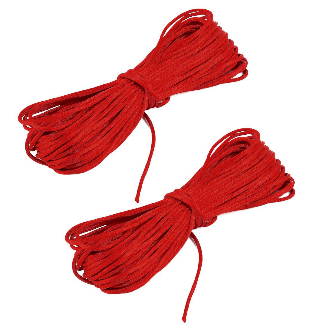 Festival Nylon DIY Handcraft Bracelet Chain Cord String Rope Red 22 Yards 2pcs