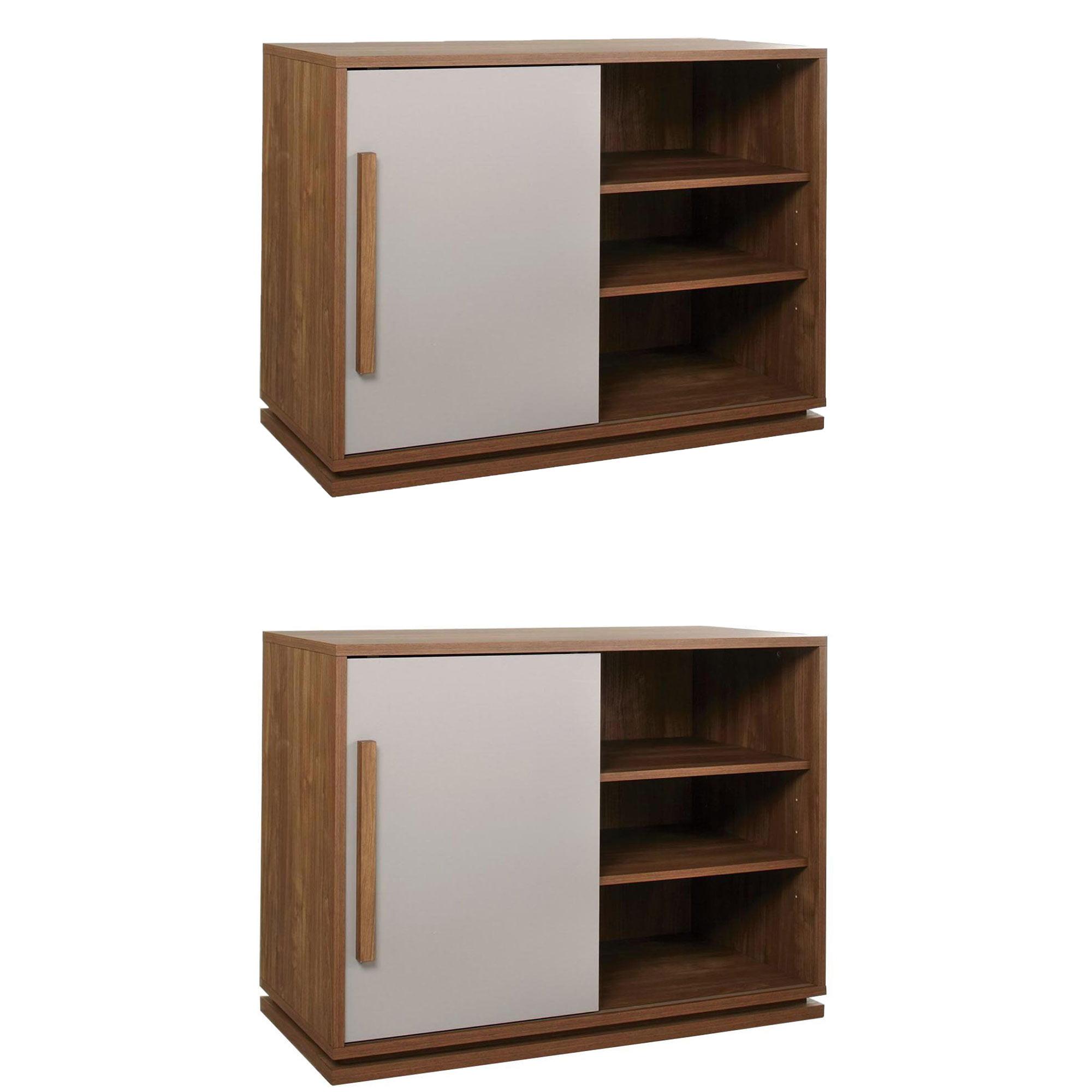 Sauder Furniture Soft Modern High Boy 40 Inch Tv Stand Walnut