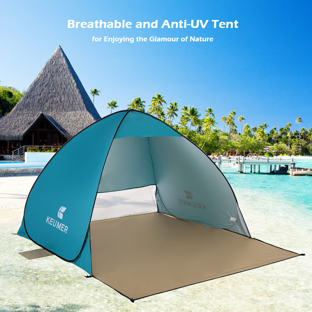 KEUMER Outdoor Portable Automatic Instant Pop-up Beach Tent Anti UV Folding Shelter Sunshade by