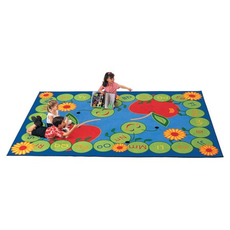 Carpets for Kids Literacy ABC Caterpillar Kids Area Rug