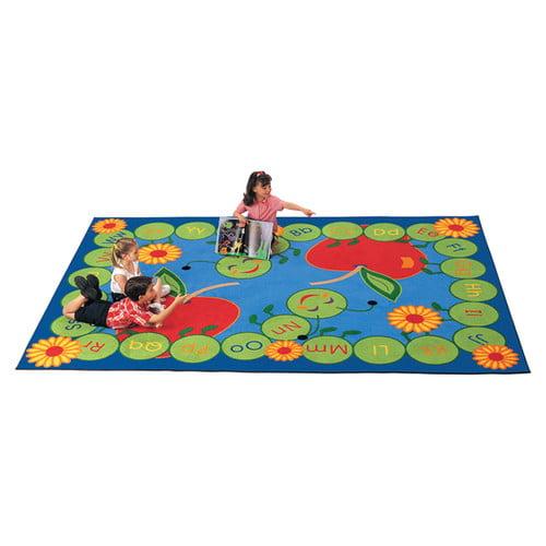 Carpets for Kids Literacy ABC Caterpillar Kids Area Rug