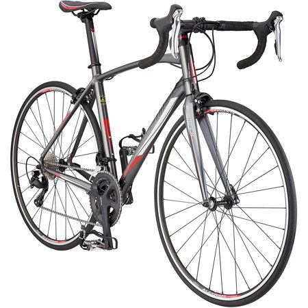 Schwinn Fastback 1 Performance Road Bike for Intermediate to Advanced Riders, Featuring 45cm/Extra Small Aluminum Frame, Carbon Fiber Fork, Shimano 105 22-Speed Drivetrain, and 700c Wheels, Grey