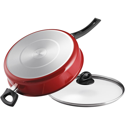 Tramontina 5-Qt EveryDay Nonstick Jumbo Cooker with Lid, Red