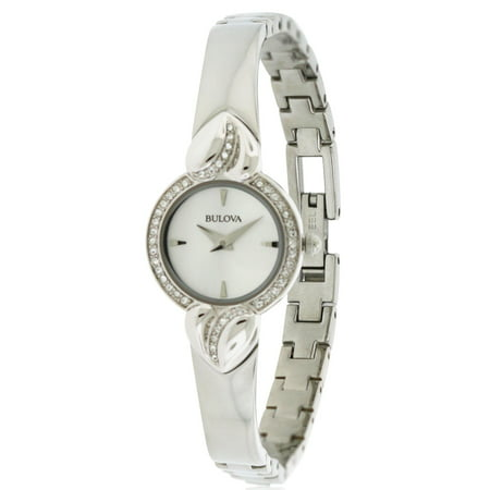 Bulova Crystal Pendant and Bangle Set Ladies Watch 96X111