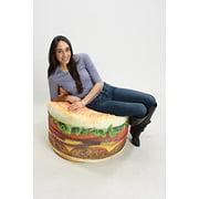 Wow Works Llc Hamburger Bean Bag Chair Image 3 Of 6
