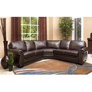 Abbyson Living Berkshire Italian Leather Sectional Sofa