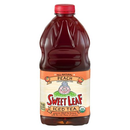 Sweet Leaf Organic Peach Ice Tea, 64 Oz