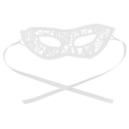 Women Sexy Masquerade Fancy Party Bar Dress Eyepatch Eyemask Lace Eye Mask White - Masquerade Dress