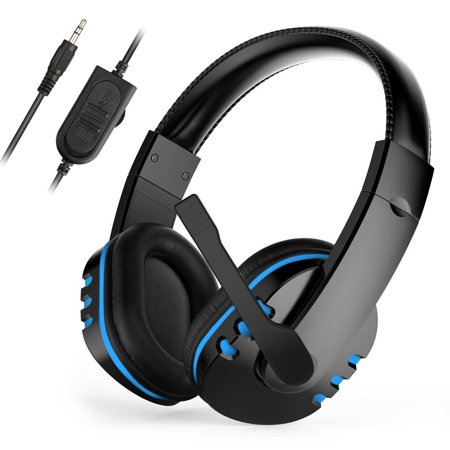 Electronic Sports Gaming Headset Mic Stereo Surround Headphone for PS4 Xbox One PC Computer Phone ()