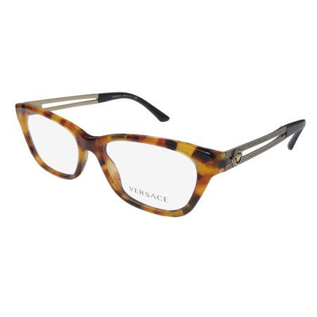 New Versace 3220 Womens/Ladies Cat Eye Full-Rim Havana / Gold ...