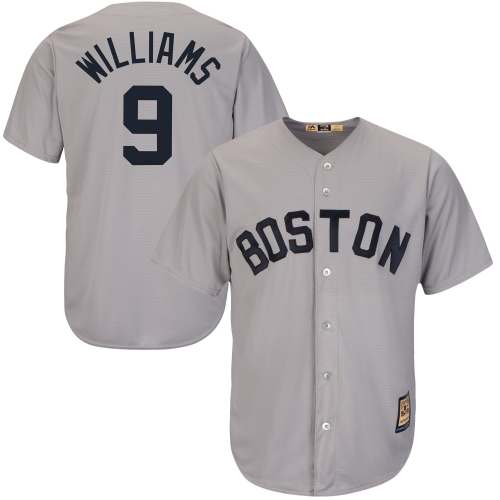 Ted Williams Boston Red Sox Majestic Cool Base Cooperstown Collection Player Jersey - Gray