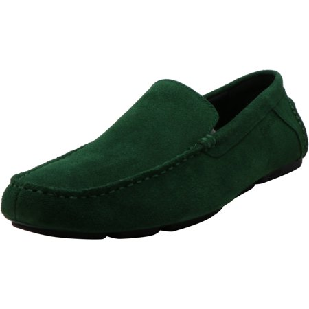 Calvin Klein Men's Miguel Calf Suede Grass Green Ankle-High Loafers & Slip-On - 9.5M