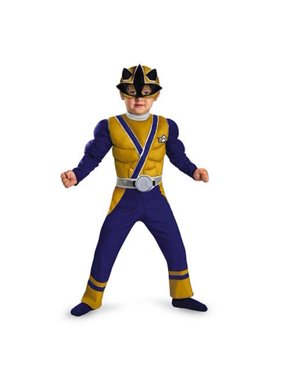 Power Rangers Toddler &  Boys Samurai Muscle Costume 2T