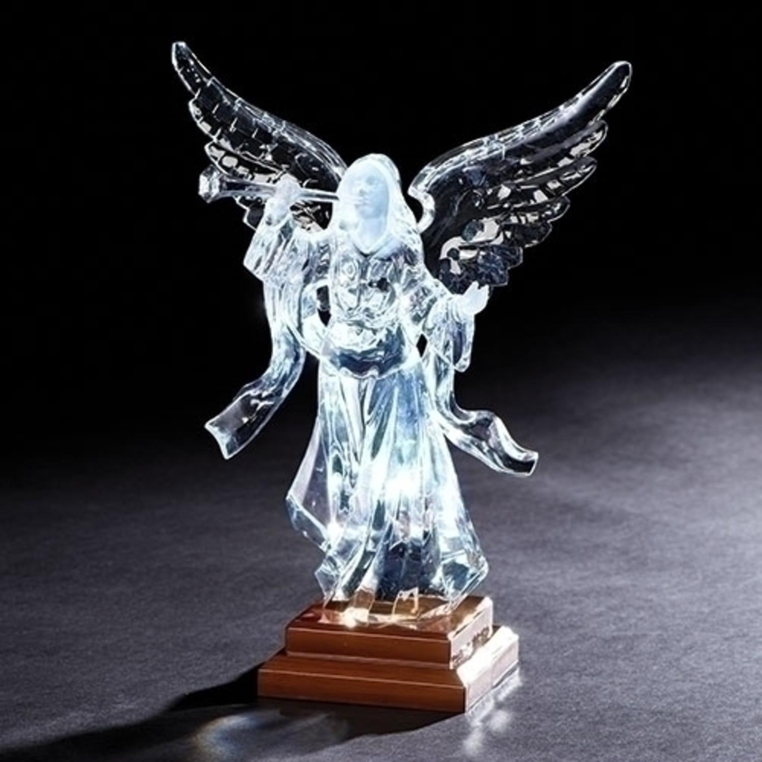 "9.5"" Trumpet Angel Christmas Decoration Table Top Figure with LED Light"