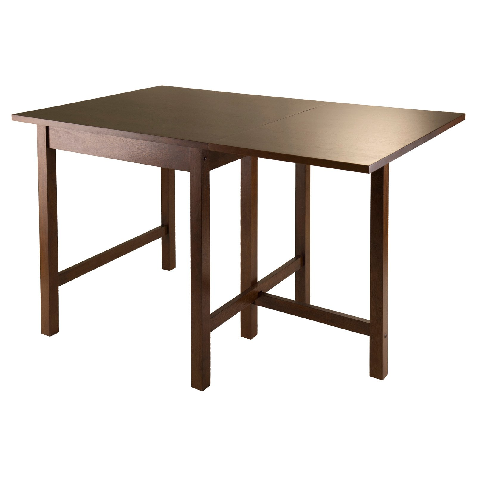 Winsome Lynden 3 Piece Dining Set With Drop Leaf Table, Antique Walnut    Walmart.com