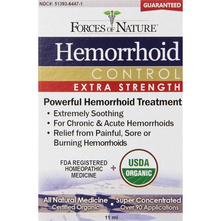 Hemorrhoid Extra Strength, 11 ml, Treats and heals stubborn, chronic & acute hemorrhoids By Forces Of Nature Ship from