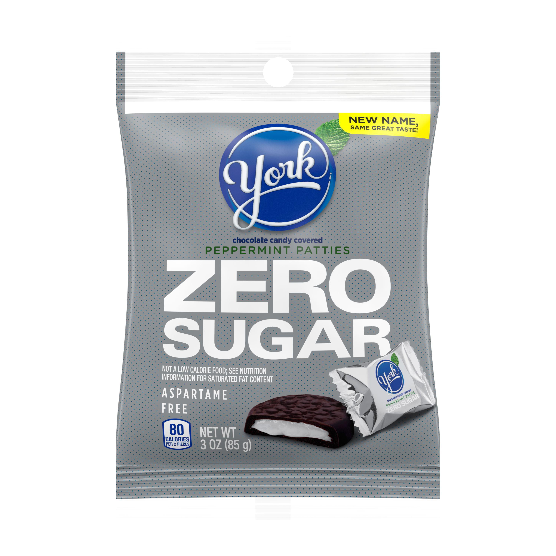 YORK, Peppermint Patties, Dark Chocolate Sugar Free Candy, Individually Wrapped, 3 oz, Bag