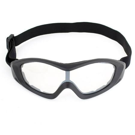 - Unique Bargains Unisex Ski Racing Anti Dust Black Full Rim Clear Lens Goggles Glasses
