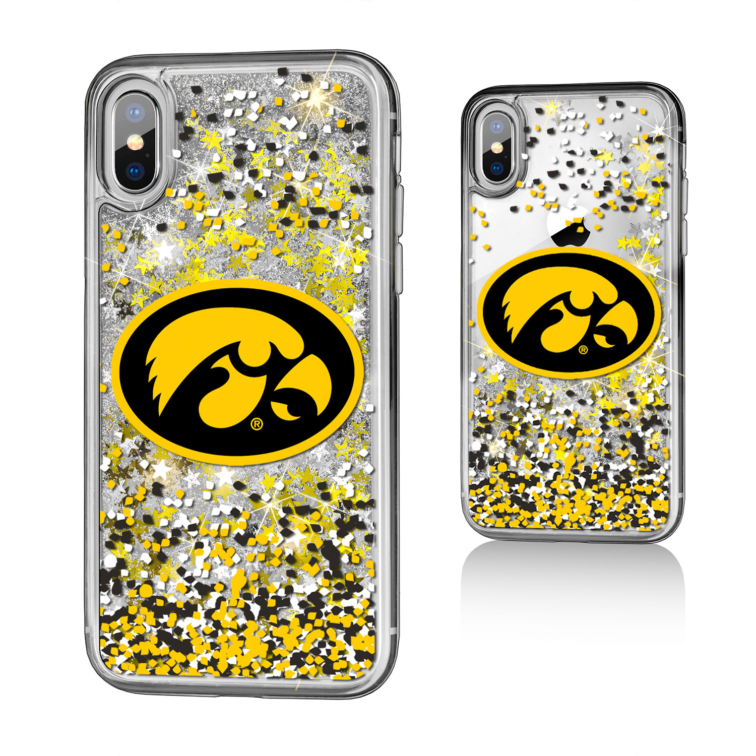 Iowa Hawkeyes Confetti Glitter Case for iPhone X