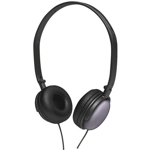 Coby CV135BLK Super-Bass Headphones, Black