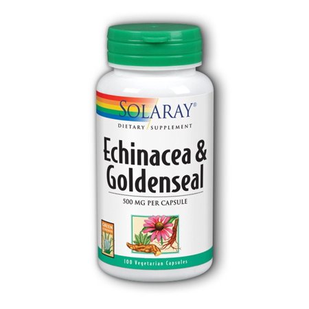 Echinacea Root with Goldenseal Solaray 100 Caps