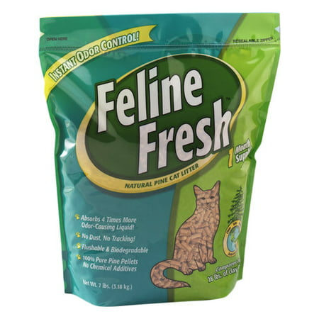 Feline Fresh Natural Pine Cat Litter, 7-lb