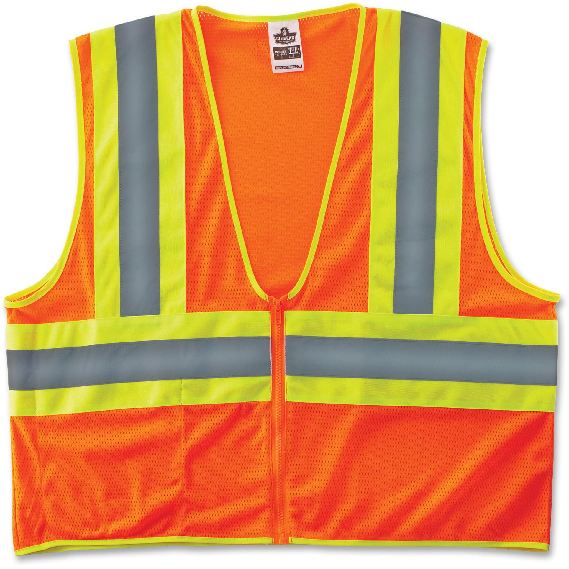 GloWear, EGO21293, Class 2 Two-tone Lime Vest, 1 / Each, Lime