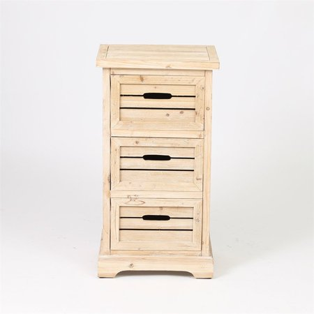 Natural 3 Drawer Small - Small Drawer Cabinet