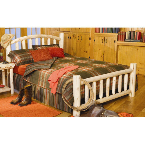 Rustic Natural Cedar Furniture Log Style Beds Panel Bed