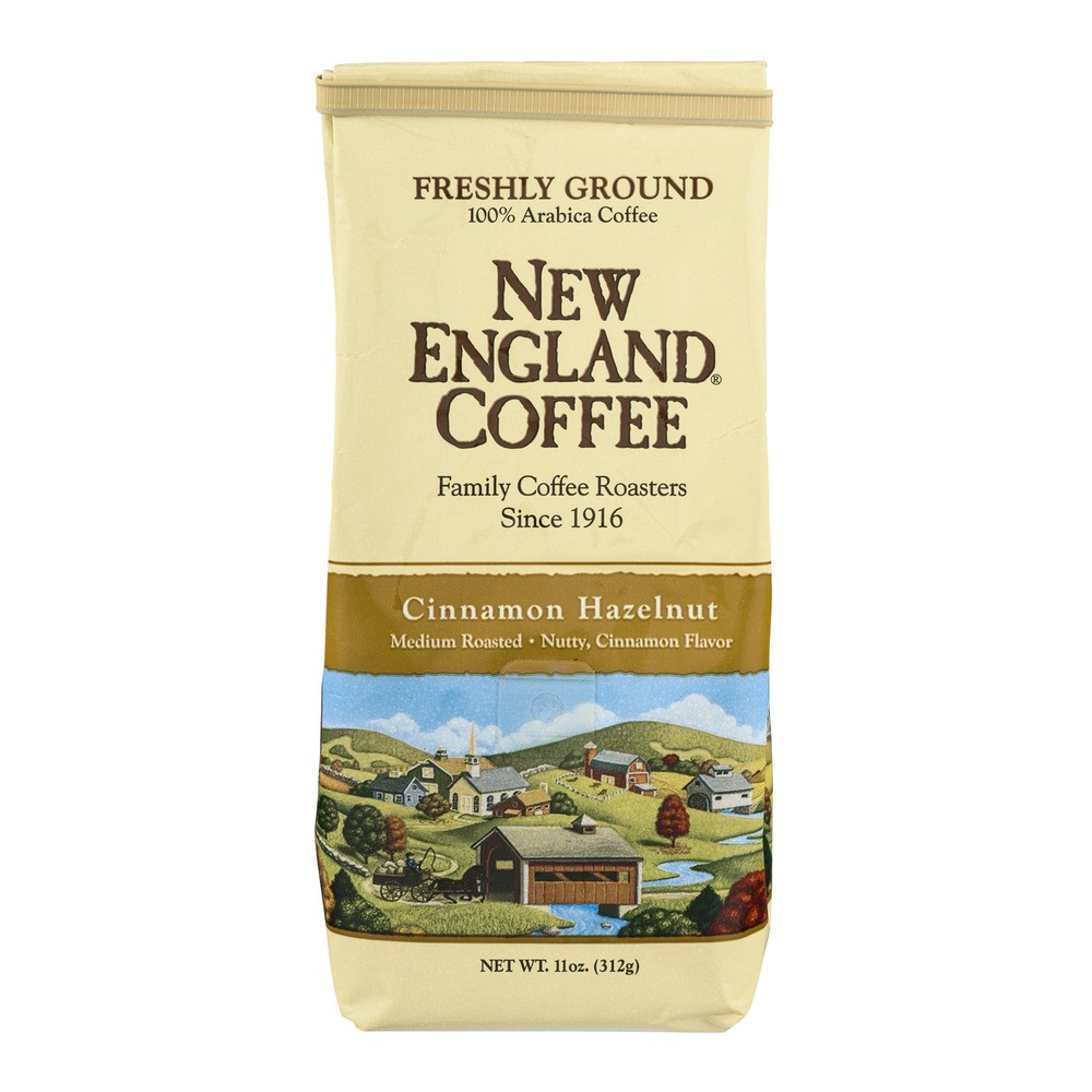 (3 Pack) New England Coffee Cinnamon Hazelnut Ground Coffee, 11 oz