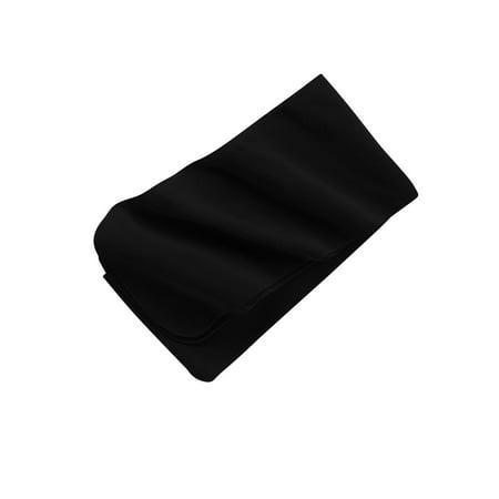 Port Authority Extra Long Fleece Scarf, Black