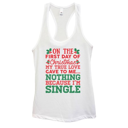 "Women's Christmas Tank Top ""On The First Day Of Christmas My True Love Gave To Me..."