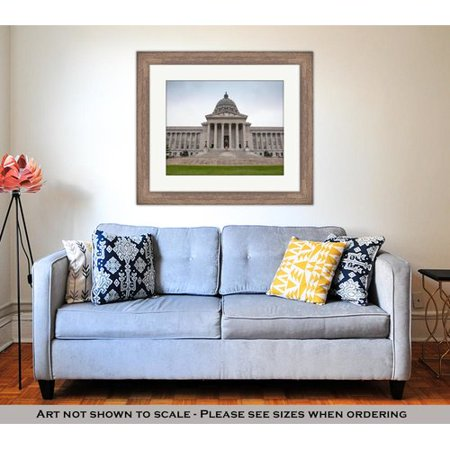 Charlton Home Missouri State House And Capitol Building In Jefferson City Mo Photographic Print Blue Beige Green