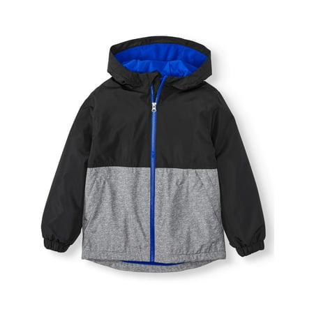 Wonder Nation Fleece Lined Rain Jacket (Little Boys, Big Boys & Husky) (Nike Boy Coat)