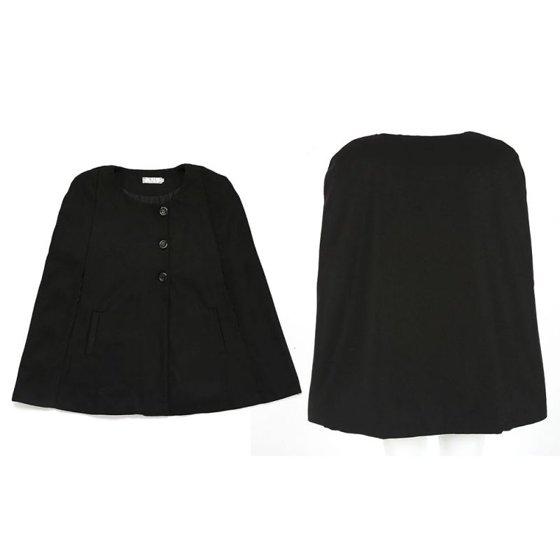 7bb920e614e Women Loose Batwing Wool Poncho Winter Warm Coat Jacket Cloak Cape ...