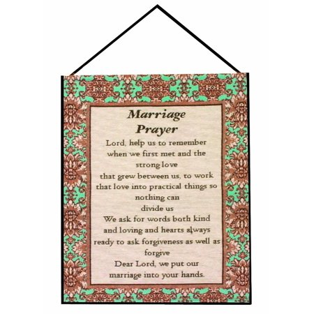 - Manual Inspirational Collection Wall Hanging with Frame, Marriage Prayer, 13 X 18-Inch, Woven bannerette with frame By Manual Woodworker