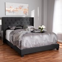 eb7694c65e24 Product Image Baxton Studio Brady Modern and Contemporary Charcoal Gray Fabric  Upholstered King Size Bed