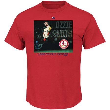 Ozzie Smith St. Louis Cardinals Majestic Cooperstown Genuine Player T-Shirt -