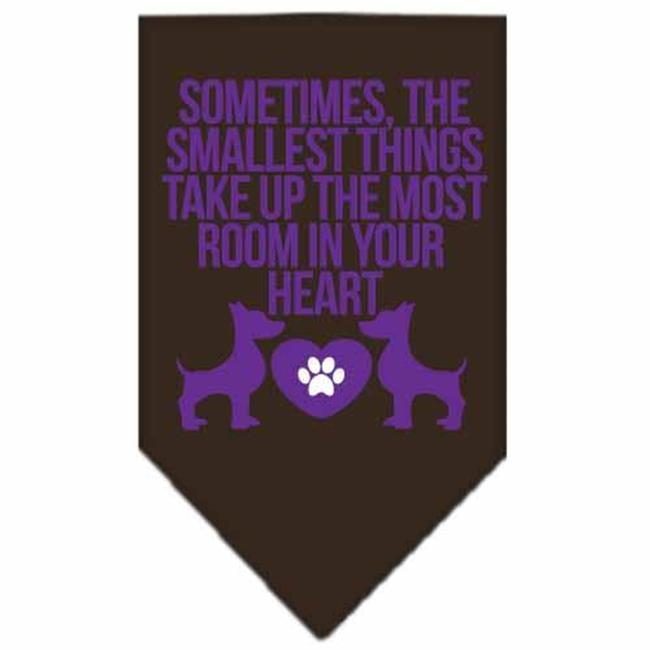 mirage 66-139 smbr smallest things screen print pet bandana brown small
