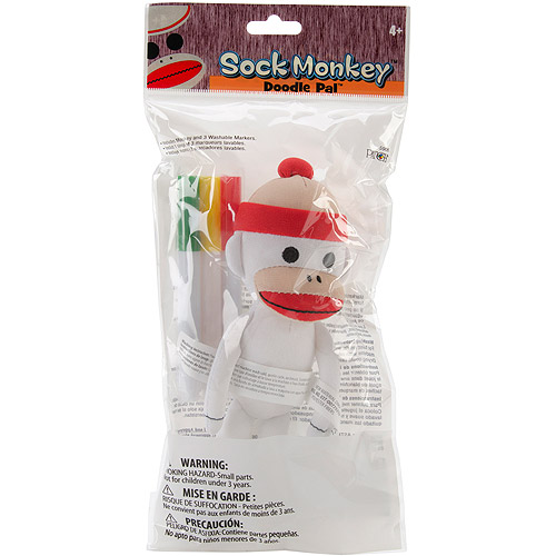 Patch Products Sock Monkey Doodle Pal, 7""
