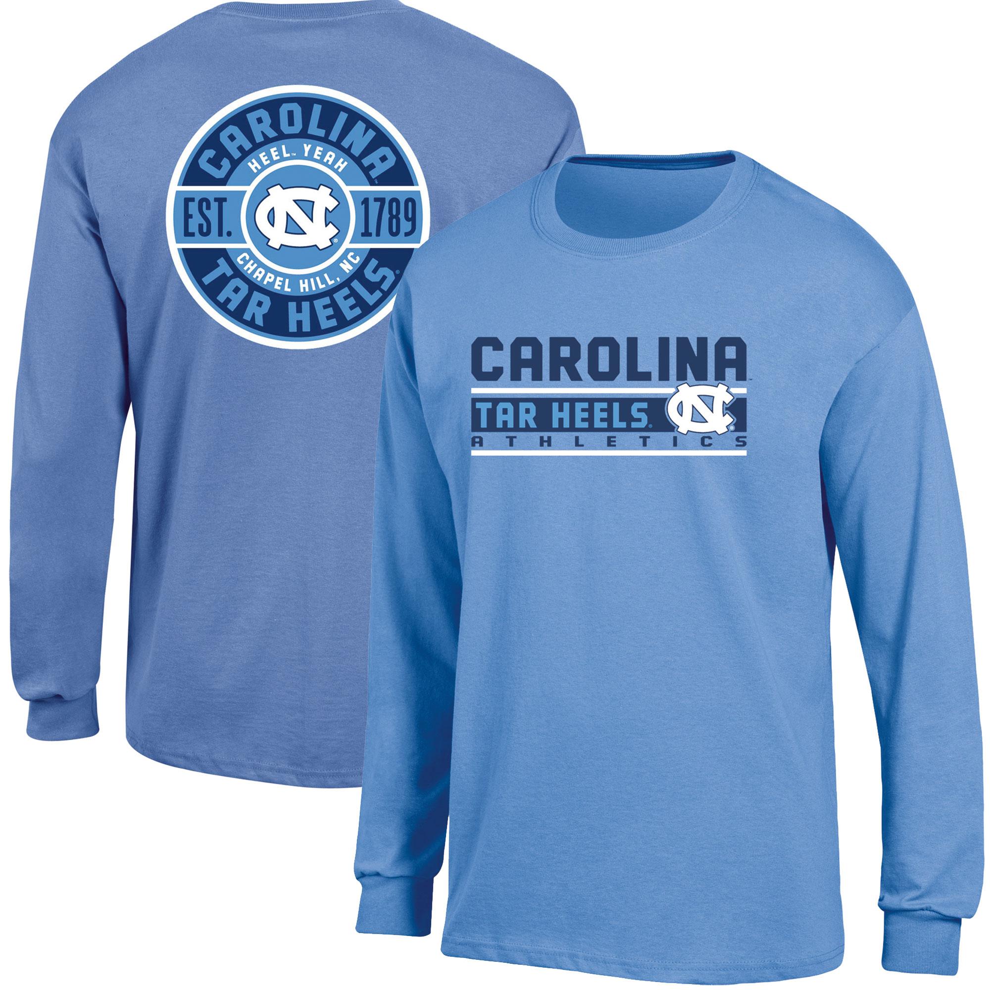 Men's Russell Carolina Blue North Carolina Tar Heels Back Hit Long Sleeve T-Shirt