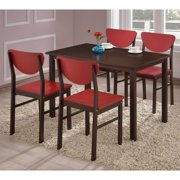 K & B Furniture Rutland Dining Table - Walnut ( Chairs not included)