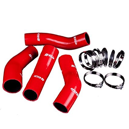 Upgr8 U8916-17 High Performance 4-ply Red Intercooler Silicone Hose Kit
