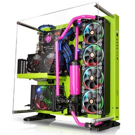 Thermaltake Core P5 Green Edition Atx Open Frame Mid Tower Liquid Cooling Computer Case Ca 1E7 00M8wn 00
