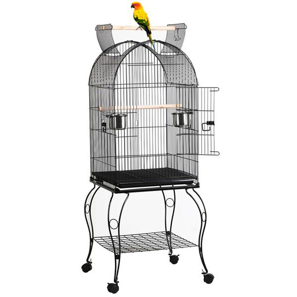 """59"""" Yaheetech Large Rolling Metal Bird Cage w/ Open Playtop, Stand & Perch for Parrot, Cockatiel, Canary & Finch"""