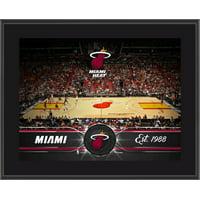 """Miami Heat 10.5"""" x 13"""" Sublimated Team Stadium Plaque"""